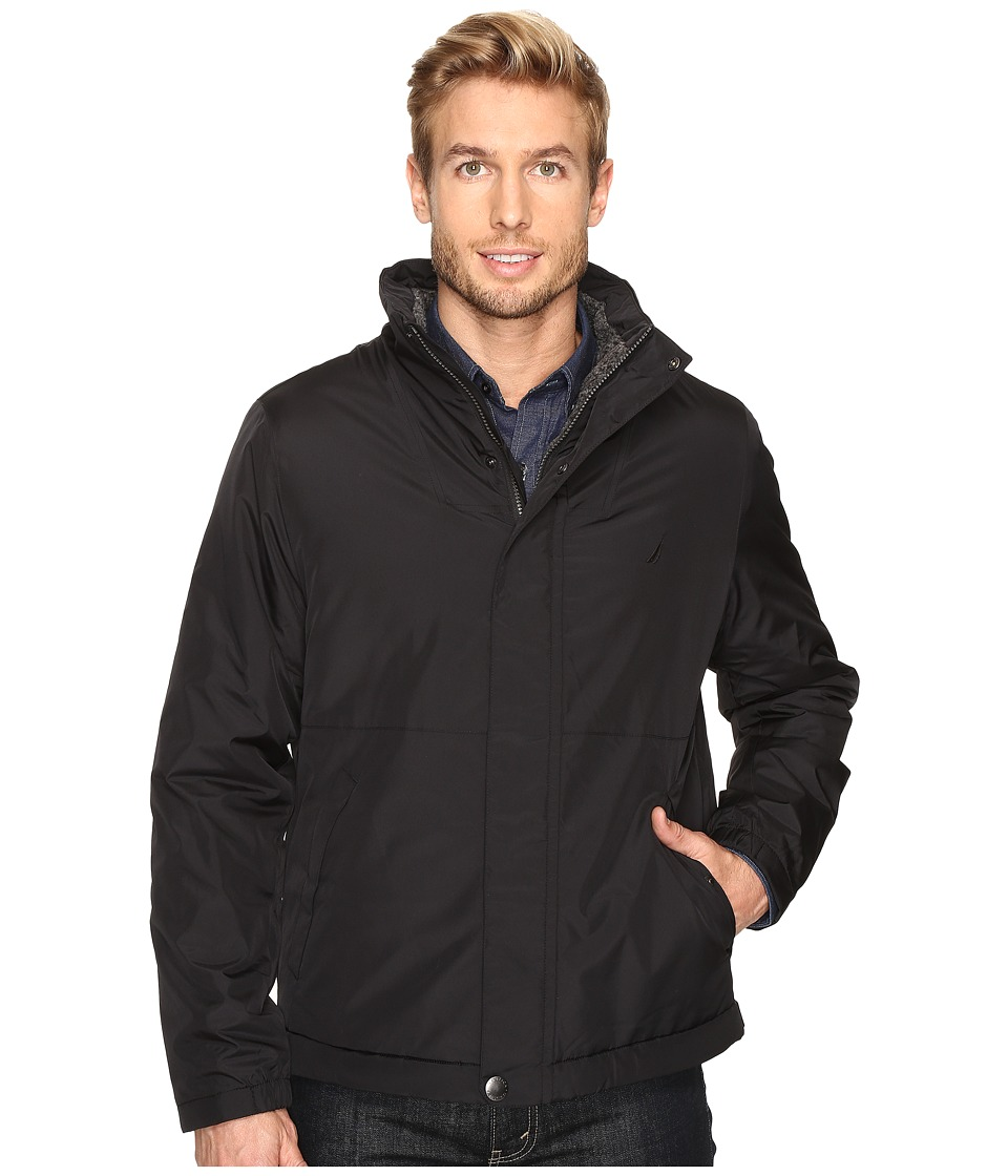 Nautica - Berber Lined Bomber (True Black) Men's Jacket