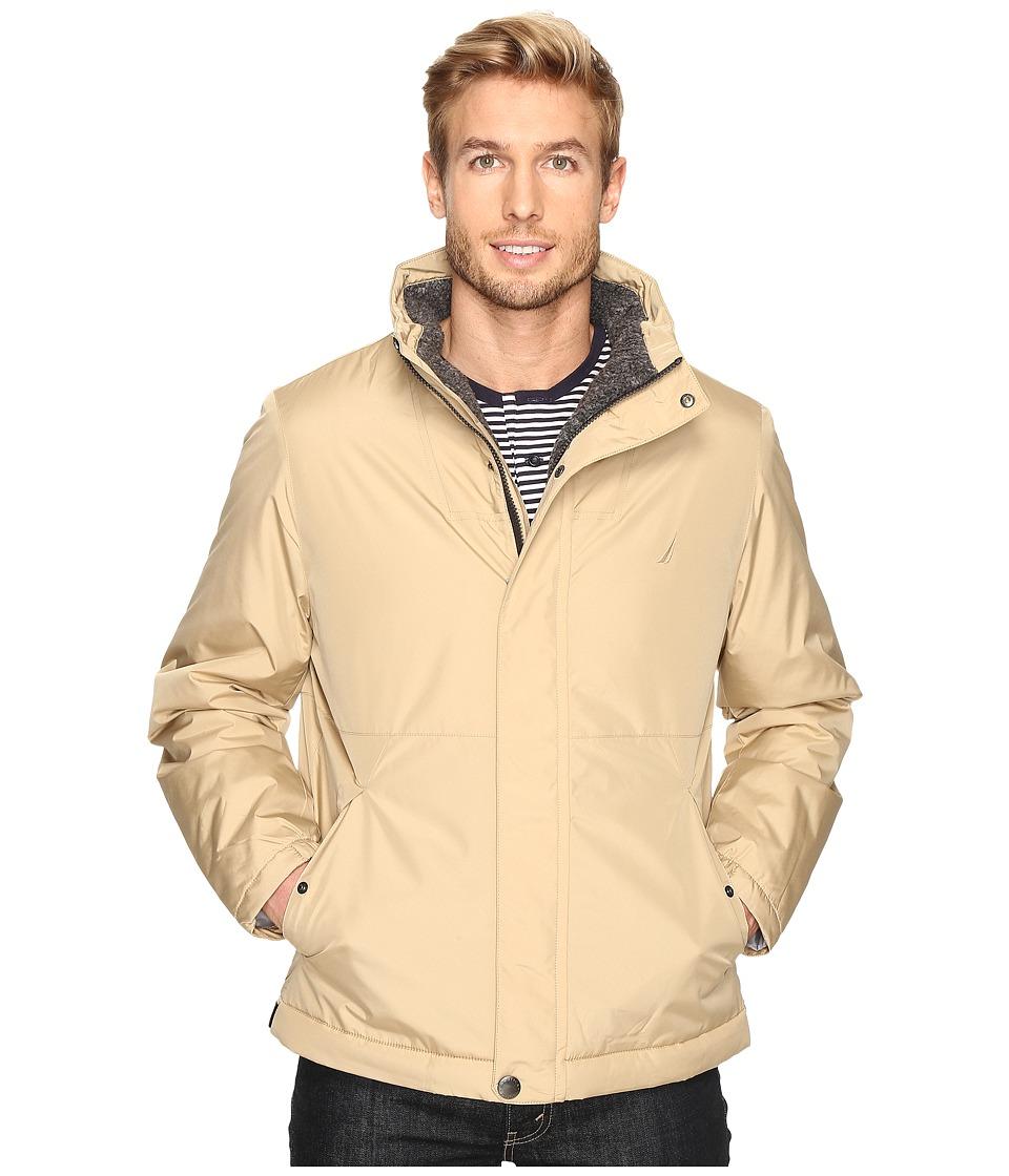 Nautica - Berber Lined Bomber (Sandy Bar) Men's Jacket