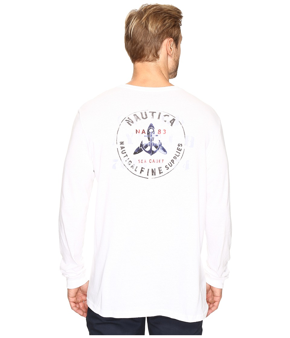 Nautica - Booth Bay (Bright White) Men's Long Sleeve Pullover