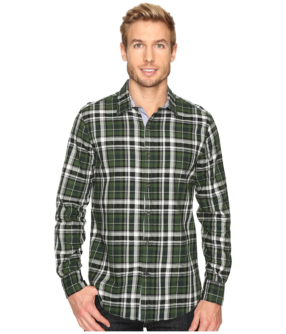Nautica - Long Sleeve Large Plaid (Pacific Pine) Men's Clothing