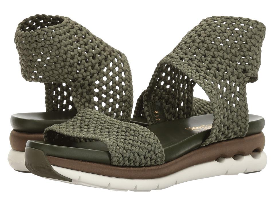 Salvatore Ferragamo Elastic Platform Sandal (New Salvia) Women