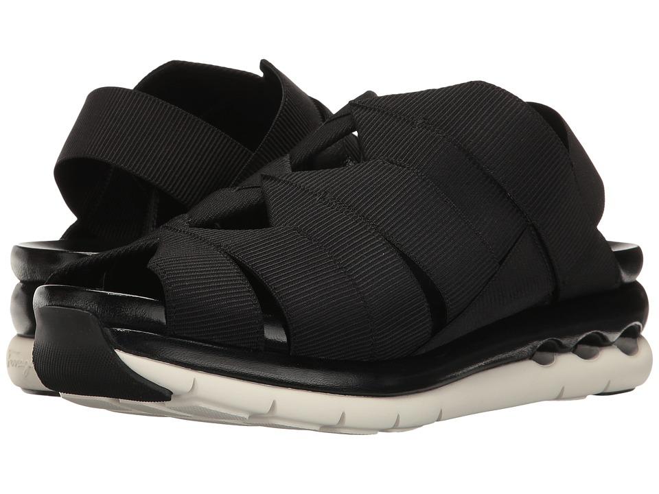 Salvatore Ferragamo - Elastic Platform Sandal (Nero) Women's Sandals