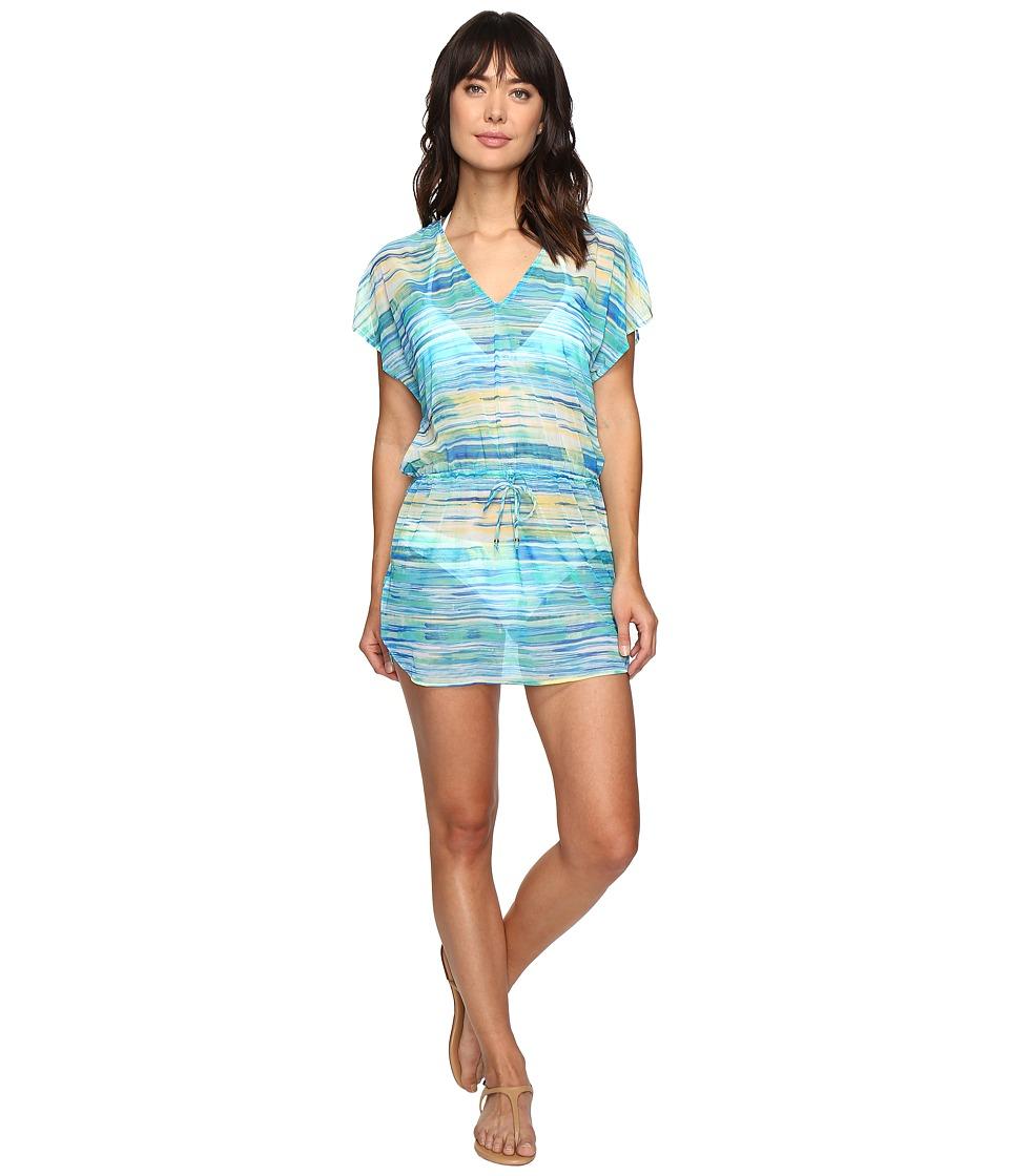 LAUREN Ralph Lauren - Carnival Poolside Tunic Cover-Up (Blue) Women's Swimwear