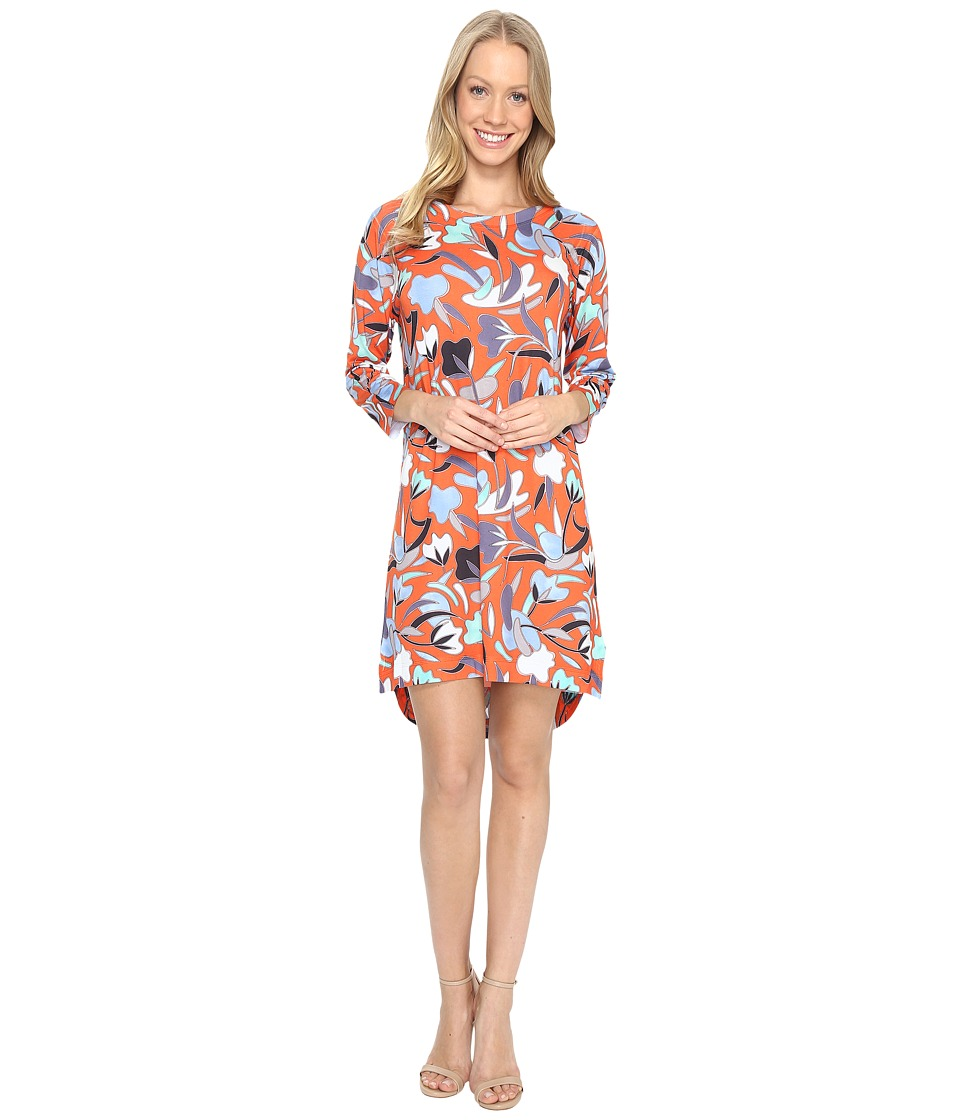 Nally & Millie - Red Floral High-Low Dress (Multi) Women's Dress