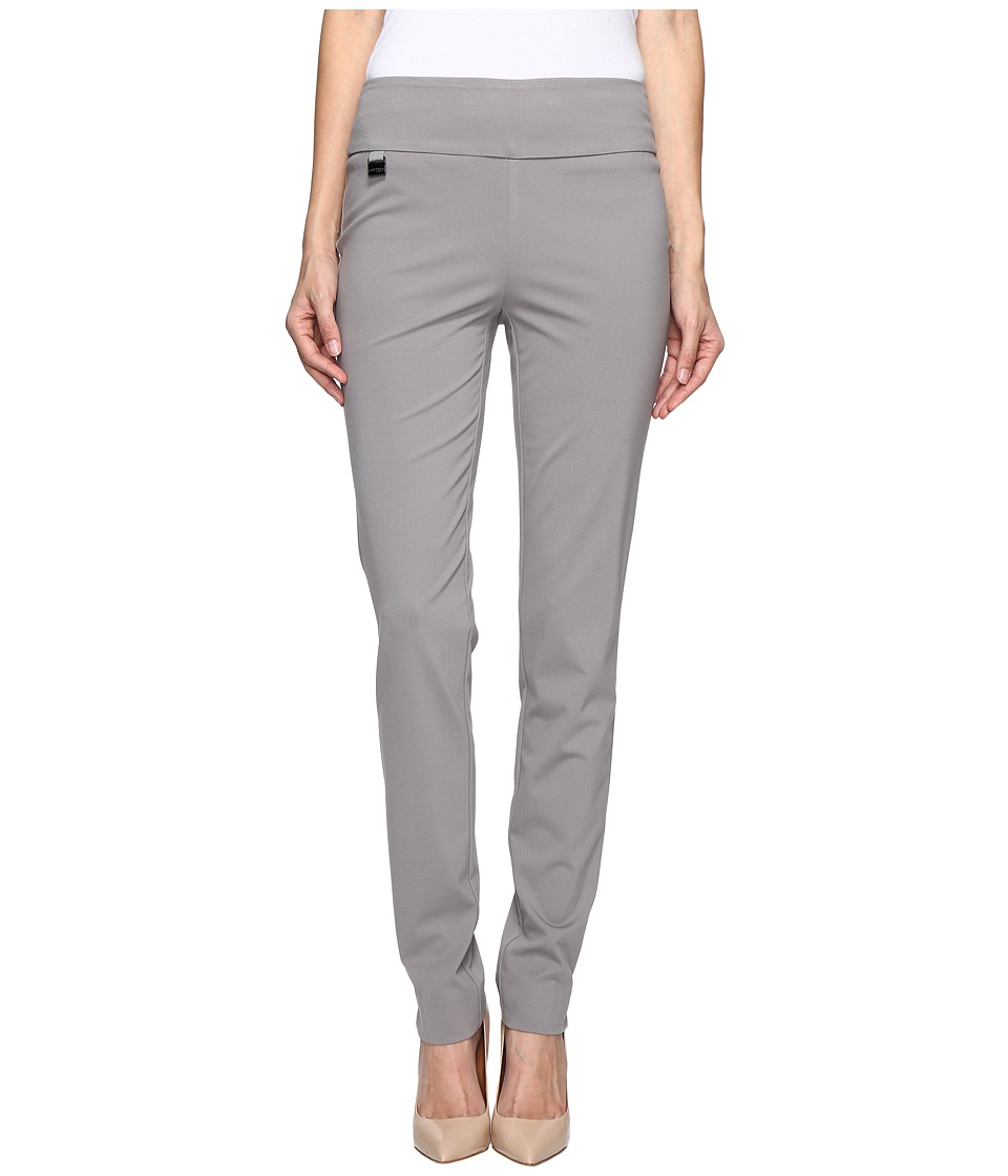 Lisette L Montreal - Kathryne Fabric Slim Pants (Brushed Nickel) Women's Dress Pants