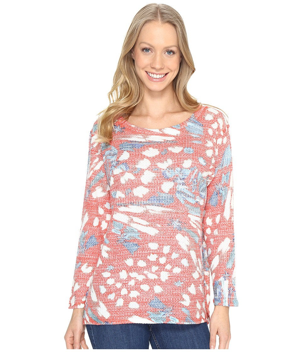 Nally & Millie - Red Multi Thermal Top (Multi) Women's Clothing