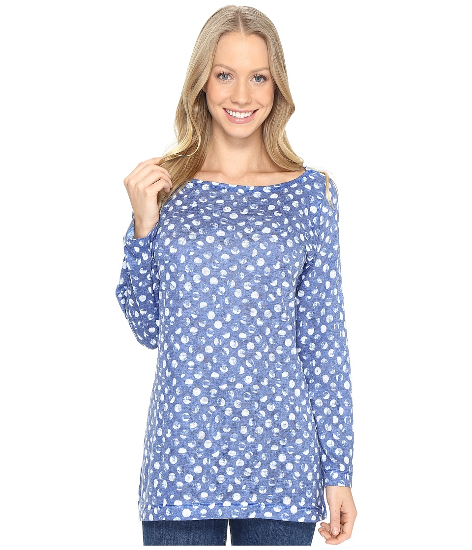Nally & Millie - Blue White Polka Dot Tunic (Multi) Women's Clothing