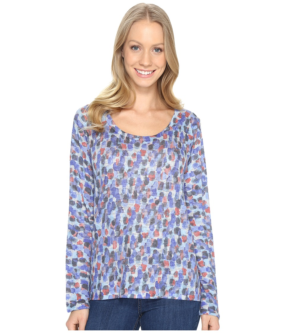 Nally & Millie - Spotted Print Long Sleeve Top (Multi) Women's Clothing