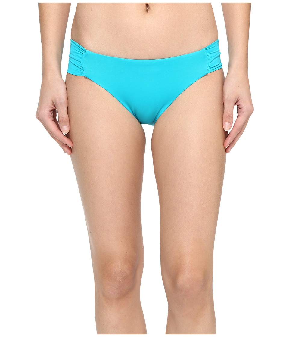 Trina Turk - Gypsy Solids Shirred Hipster Bottoms (Turquoise) Women's Swimwear