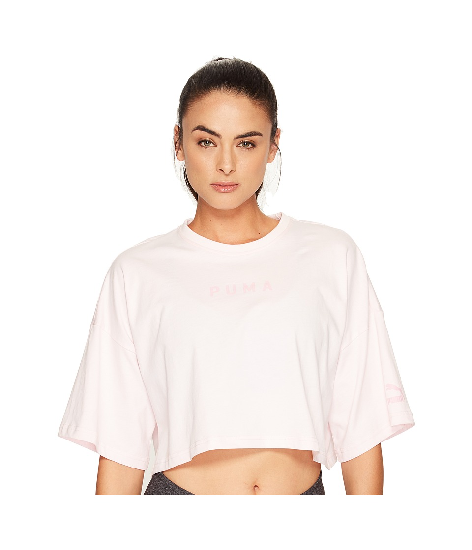 PUMA - Xtreme Cropped Top (Blushing Bride) Women's Short Sleeve Pullover