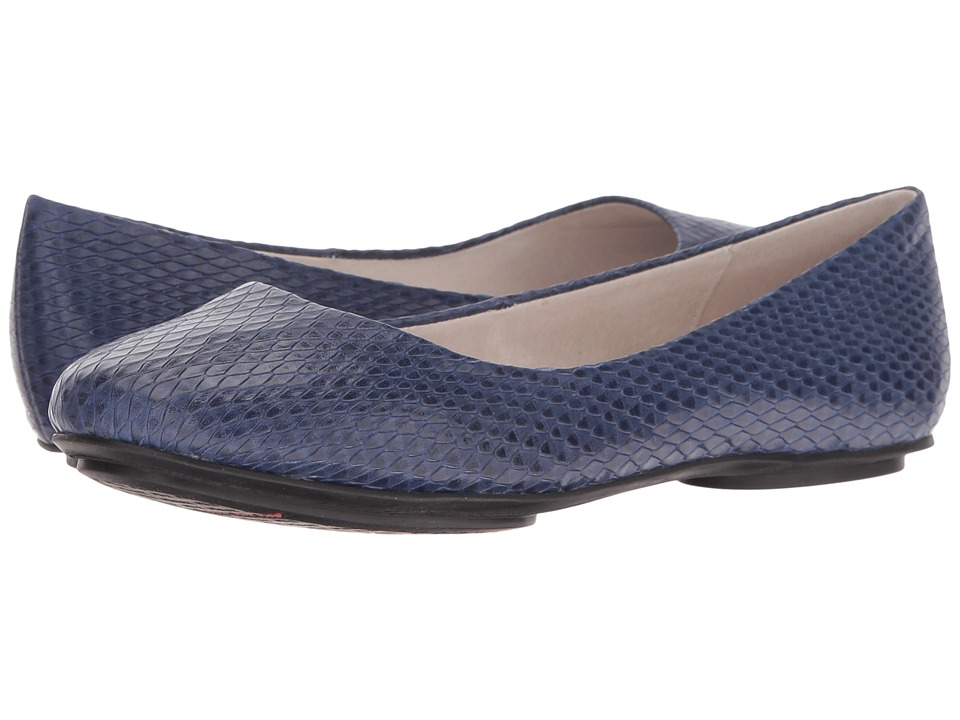 Miz Mooz - Phaedra (Dark Blue Snake) Women's Flat Shoes