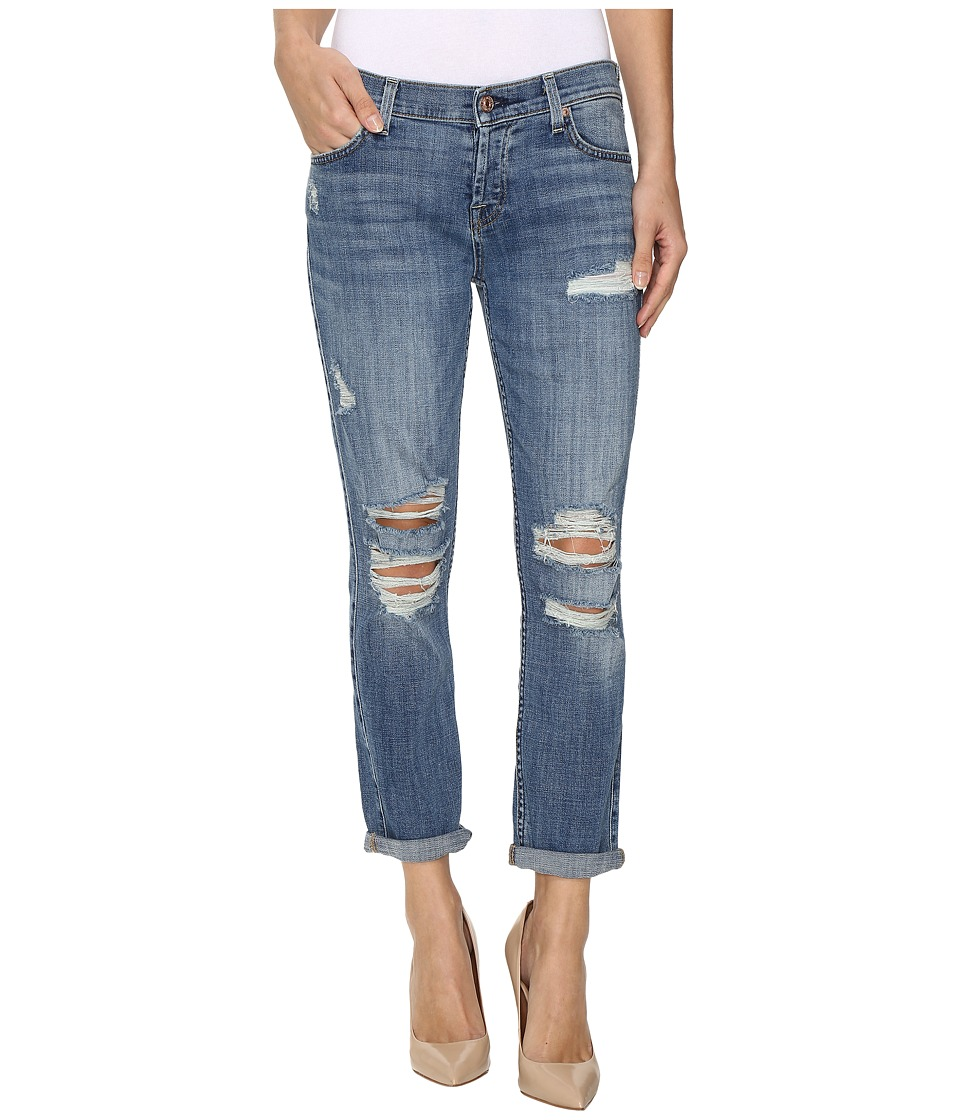 7 For All Mankind - Josefina w/ Destroy in Bright Light Broken Twill (Bright Light Broken Twill 2) Women's Jeans