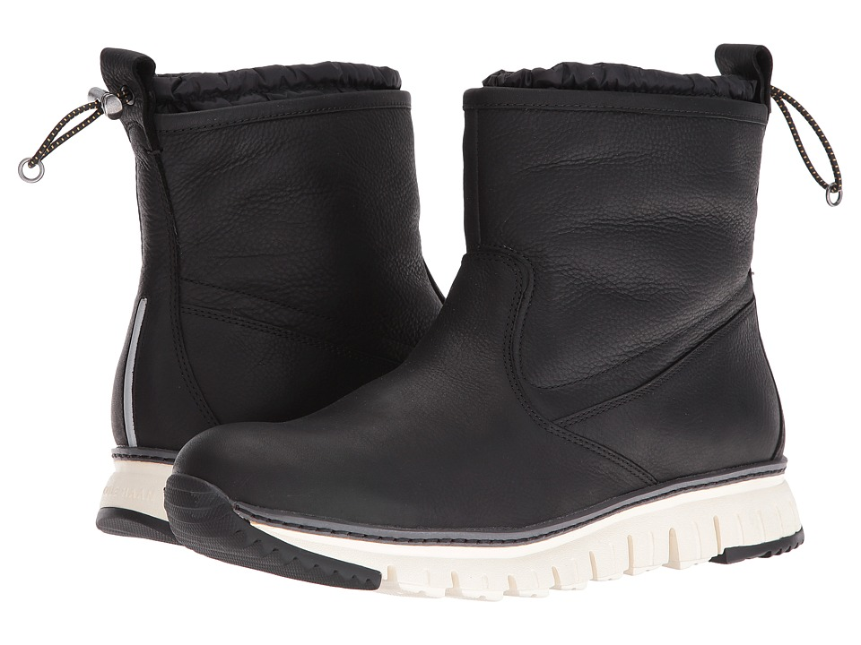Cole Haan Zerogrand Pull-On Boot (Black Leather) Men