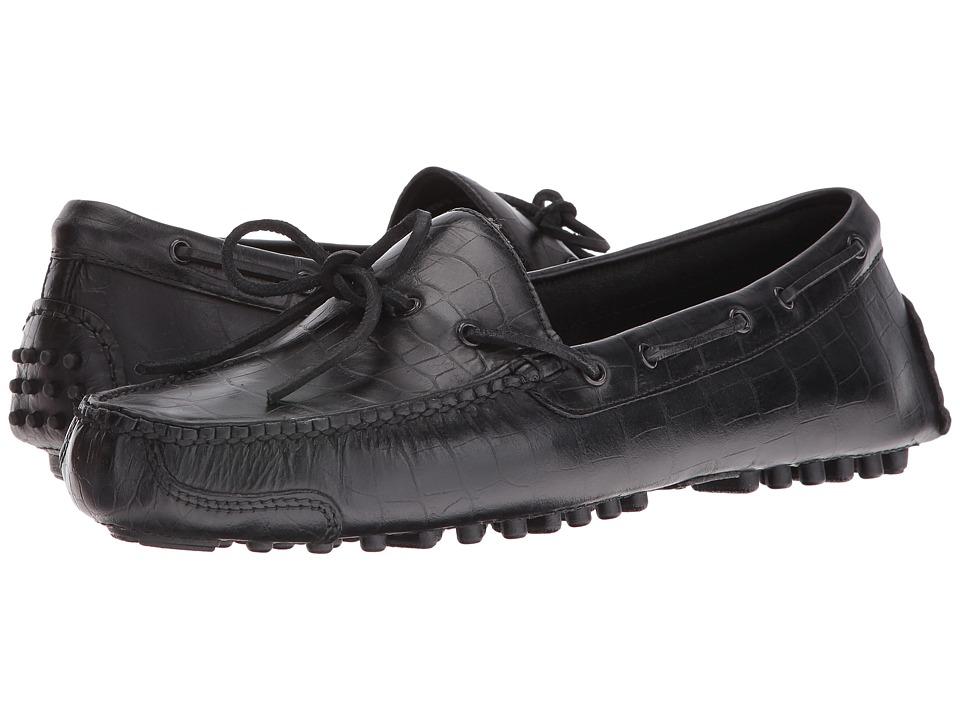 Cole Haan - Gunnison II (Black Embroidered Croc) Men's Shoes