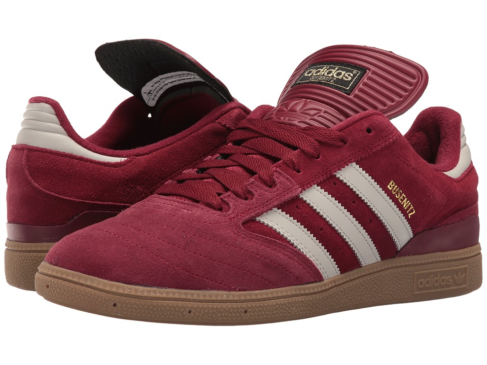 adidas - Busenitz (Burgundy/White/Gum) Men's Shoes