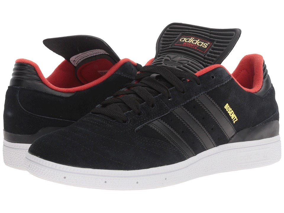adidas - Busenitz (Black/Black/Red) Men's Shoes