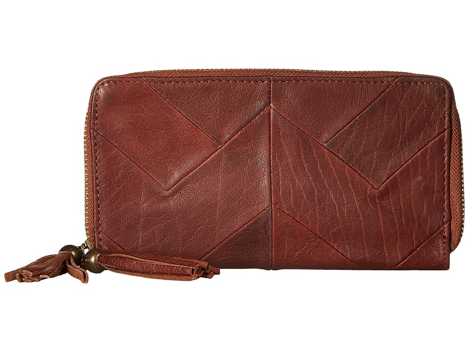 Lucky Brand - Piece Train Large Double Zip Wallet (Brandy) Wallet Handbags
