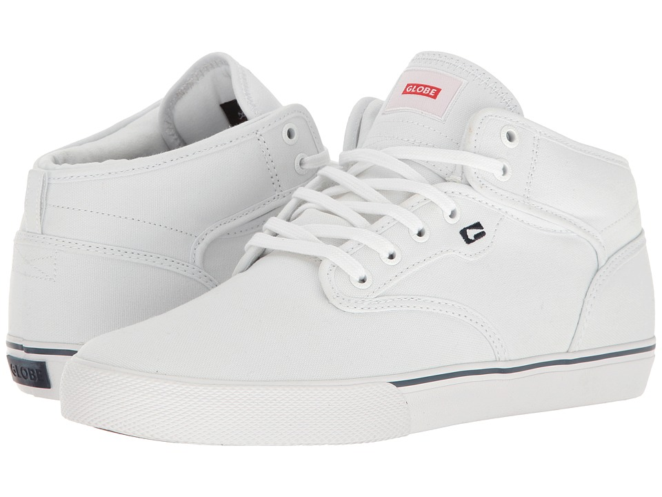 Globe - Motley Mid (White) Men's Skate Shoes