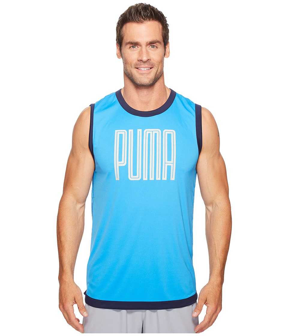 PUMA - Training Sleeveless Top (French Blue) Men's Sleeveless