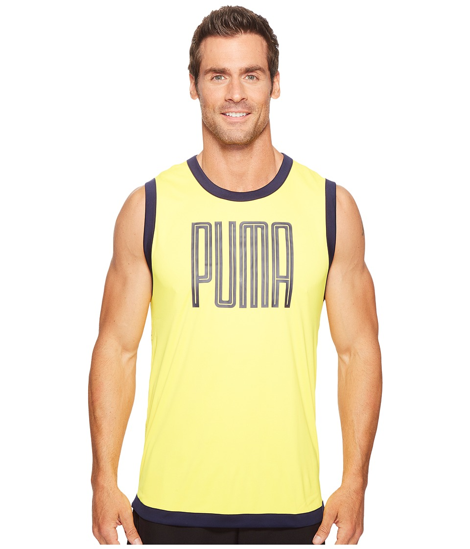 PUMA - Training Sleeveless Top (Ultra Yellow/Peacoat) Men's Sleeveless