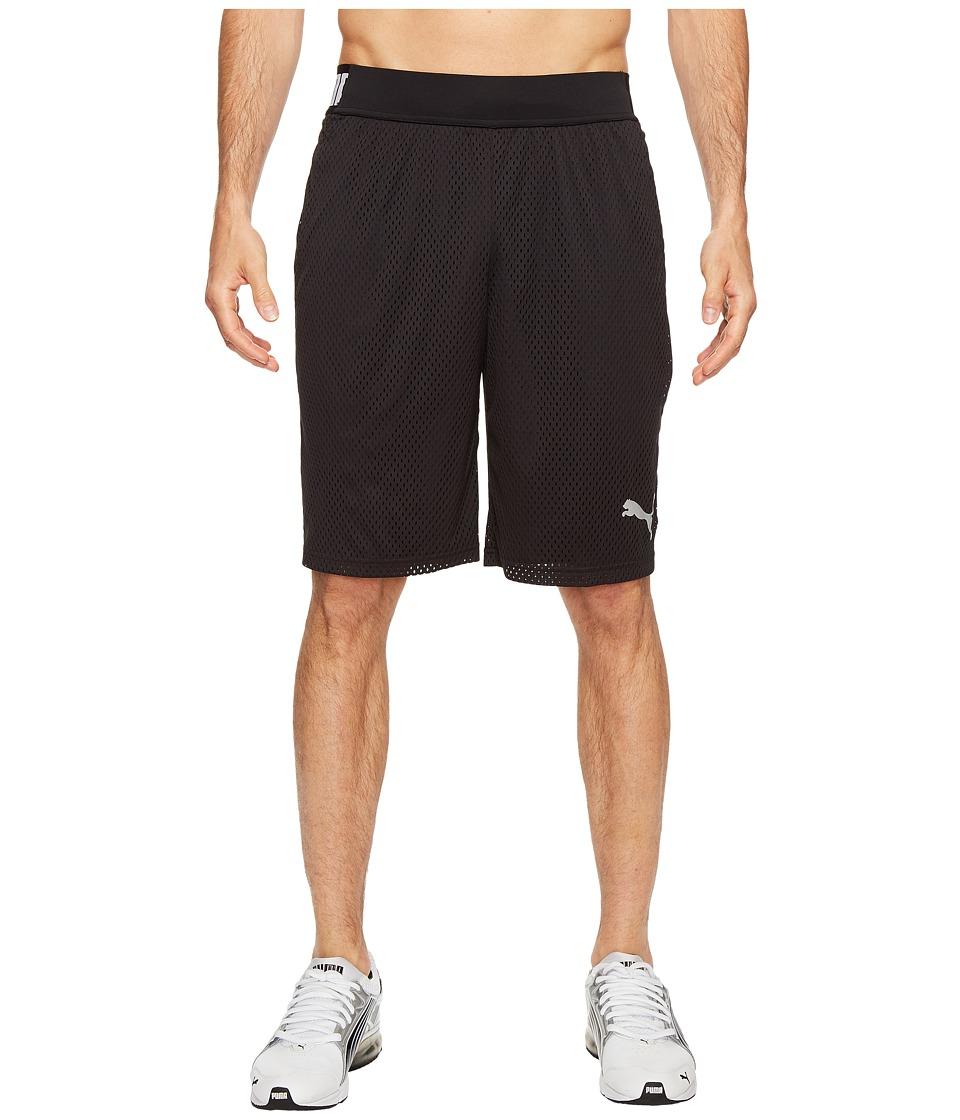 PUMA - Training Mesh 10 Shorts (Puma Black/Puma Black) Men's Shorts