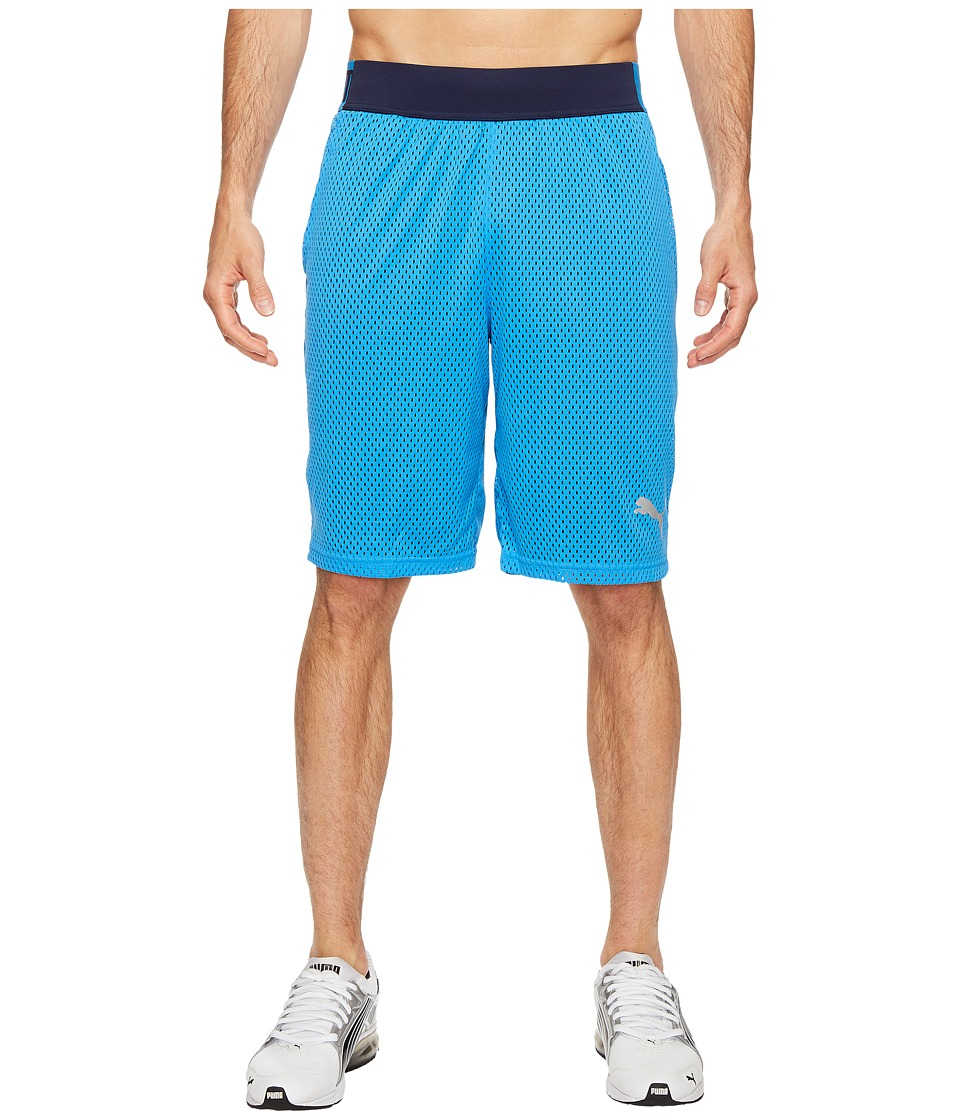 PUMA - Training Mesh 10 Shorts (French Blue/Peacoat) Men's Shorts