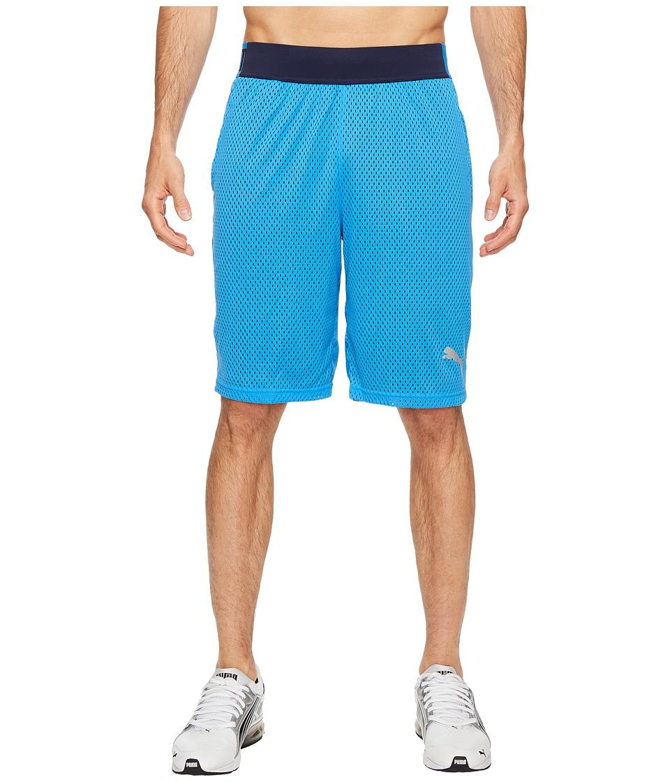 PUMA - Training Mesh 10 Shorts (French Blue/Peacoat) Men's Shorts