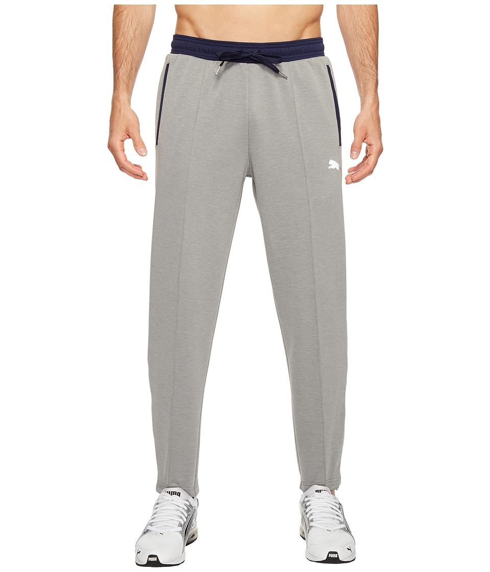 PUMA - Dri-Release Track Pants (Medium Gray Heather/Peacoat) Men's Casual Pants