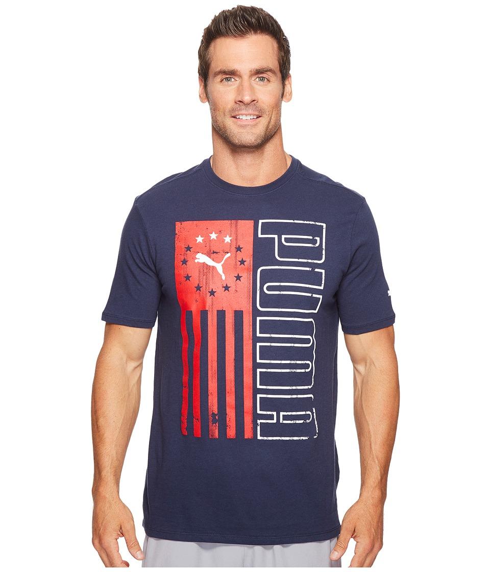 PUMA - Puma Vert Flag Tee (Peacoat) Men's T Shirt