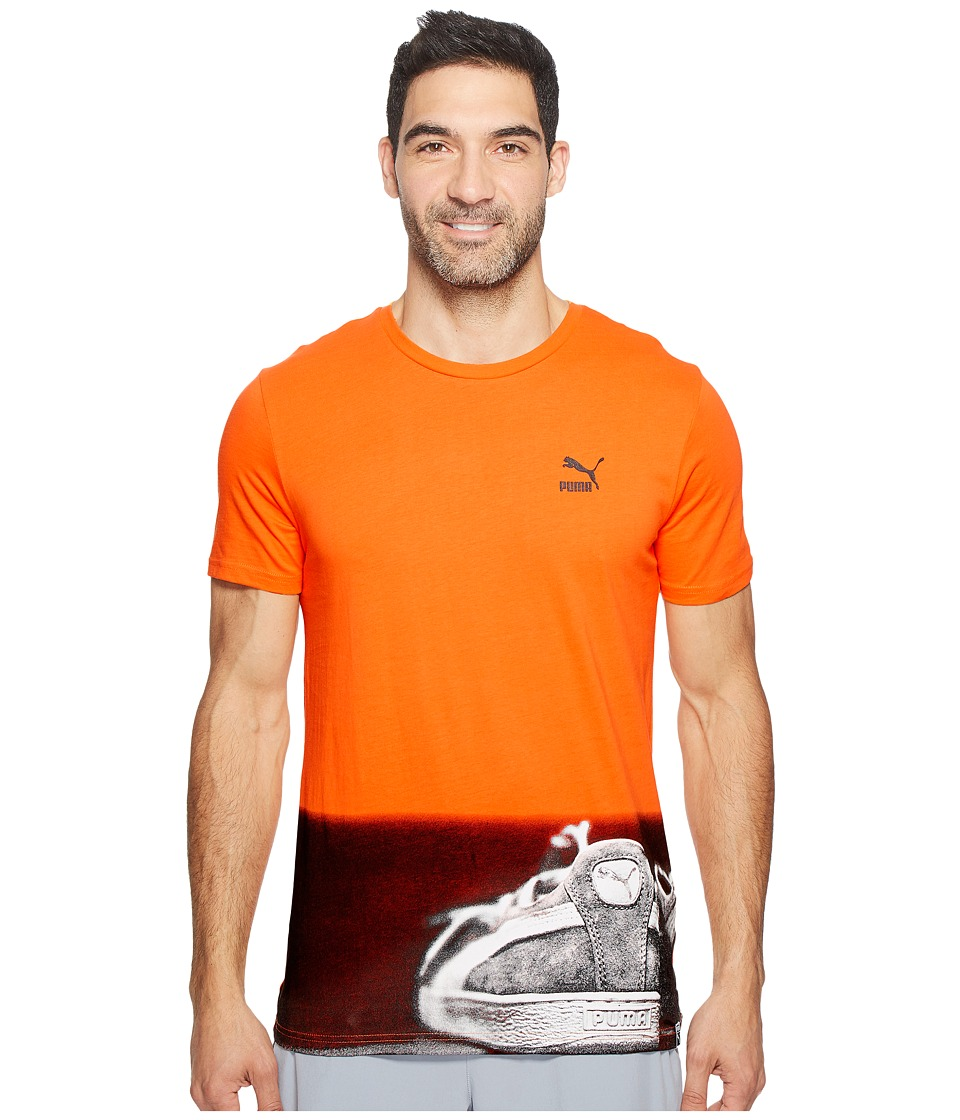 PUMA Brand Photo Tee (Vibrant Orange) Men