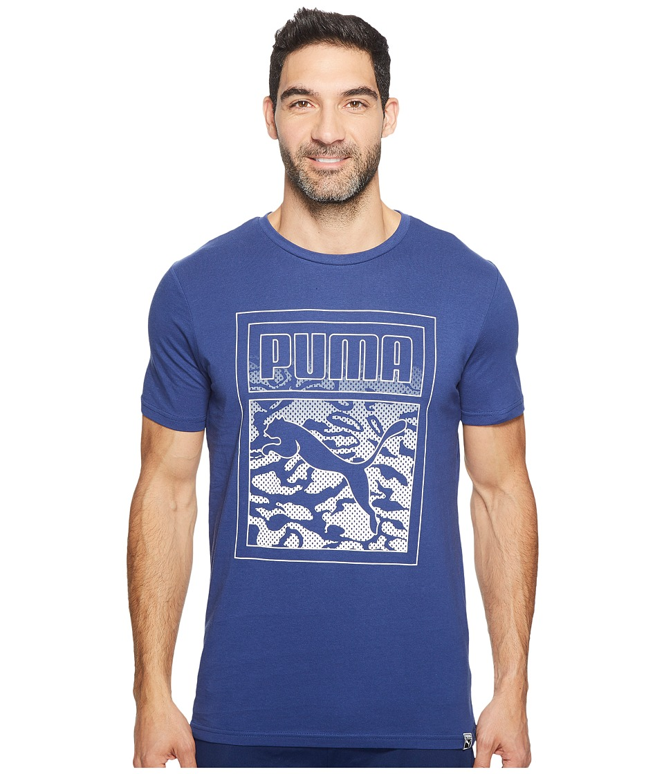 PUMA - Archive Graphic Logo Tee (Twilight Blue) Men's T Shirt
