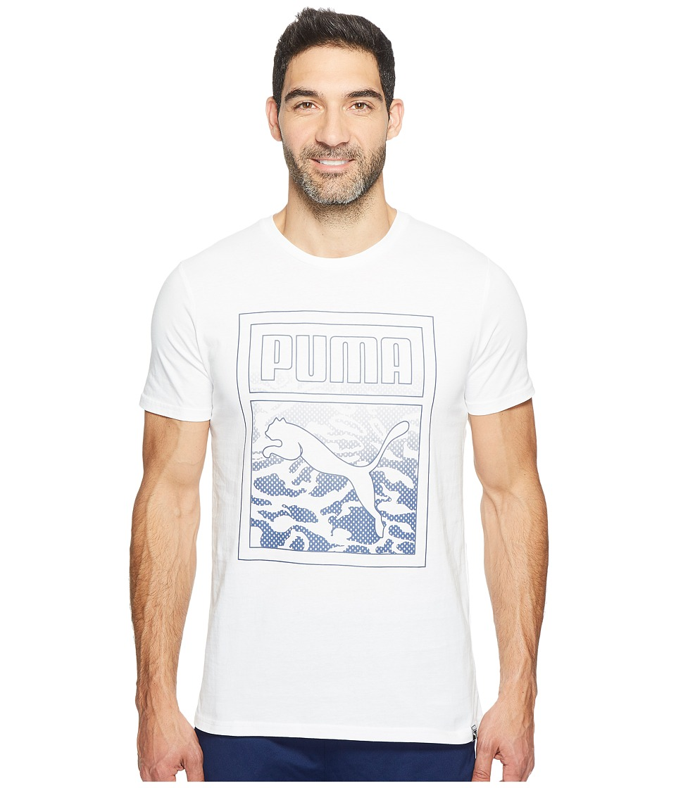 PUMA - Archive Graphic Logo Tee (PUMA White) Men's T Shirt