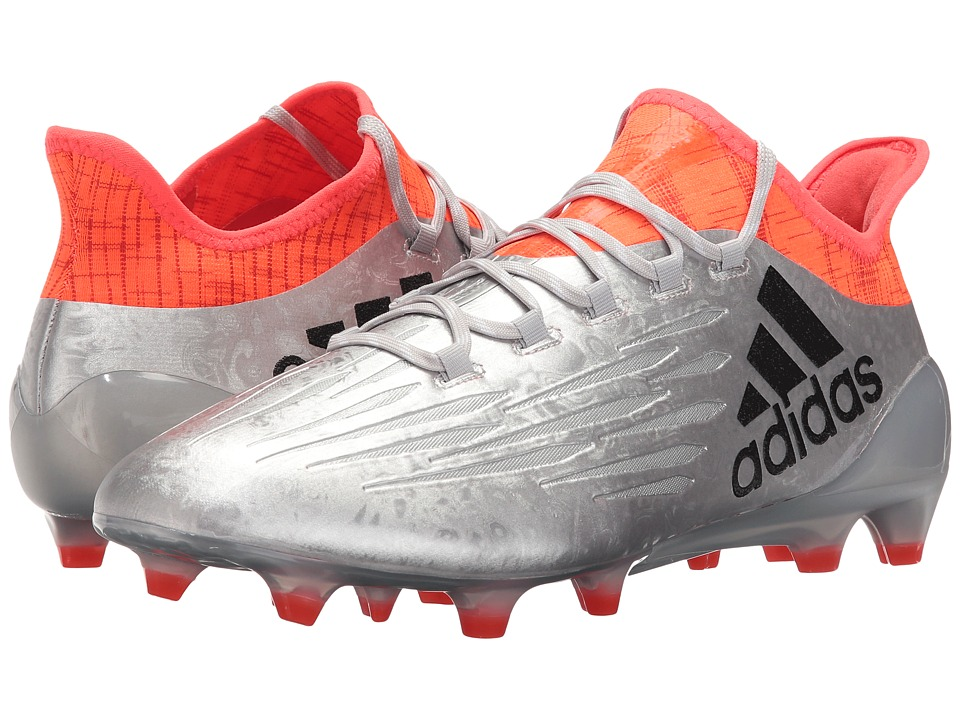 adidas - X 16.1 Firm Ground (Silver Metallic/Black/Solar Red) Men's Shoes