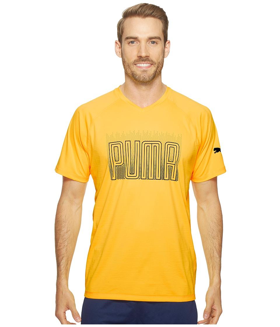PUMA - Pwrcool Graphic Tee (Ultra Yellow) Men's T Shirt