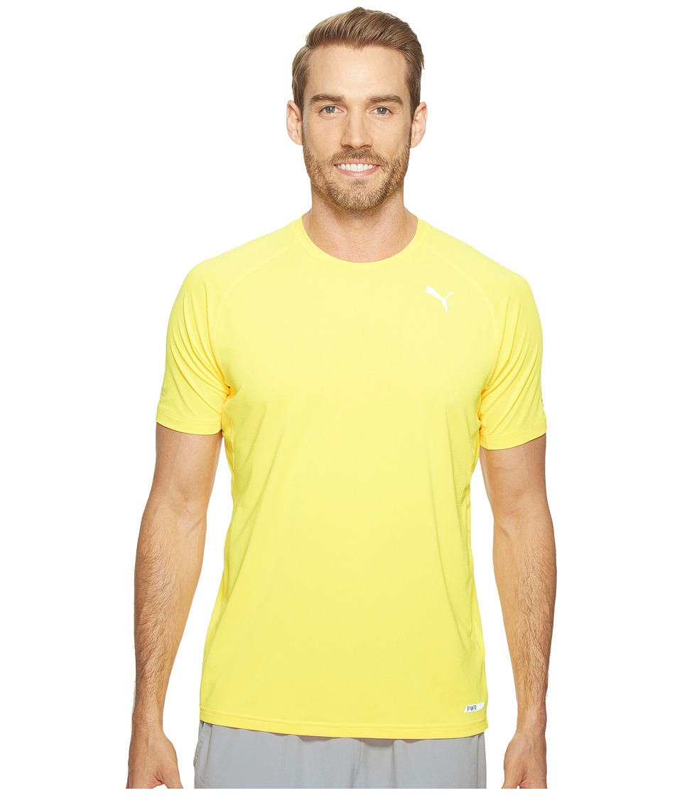 PUMA - Pwrcool Speed Short Sleeve Tee (Ultra Yellow) Men's T Shirt