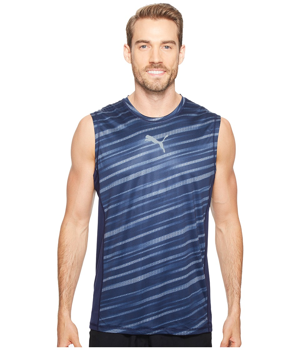 PUMA - Vent Sleeveless Top (Peacoat) Men's Sleeveless