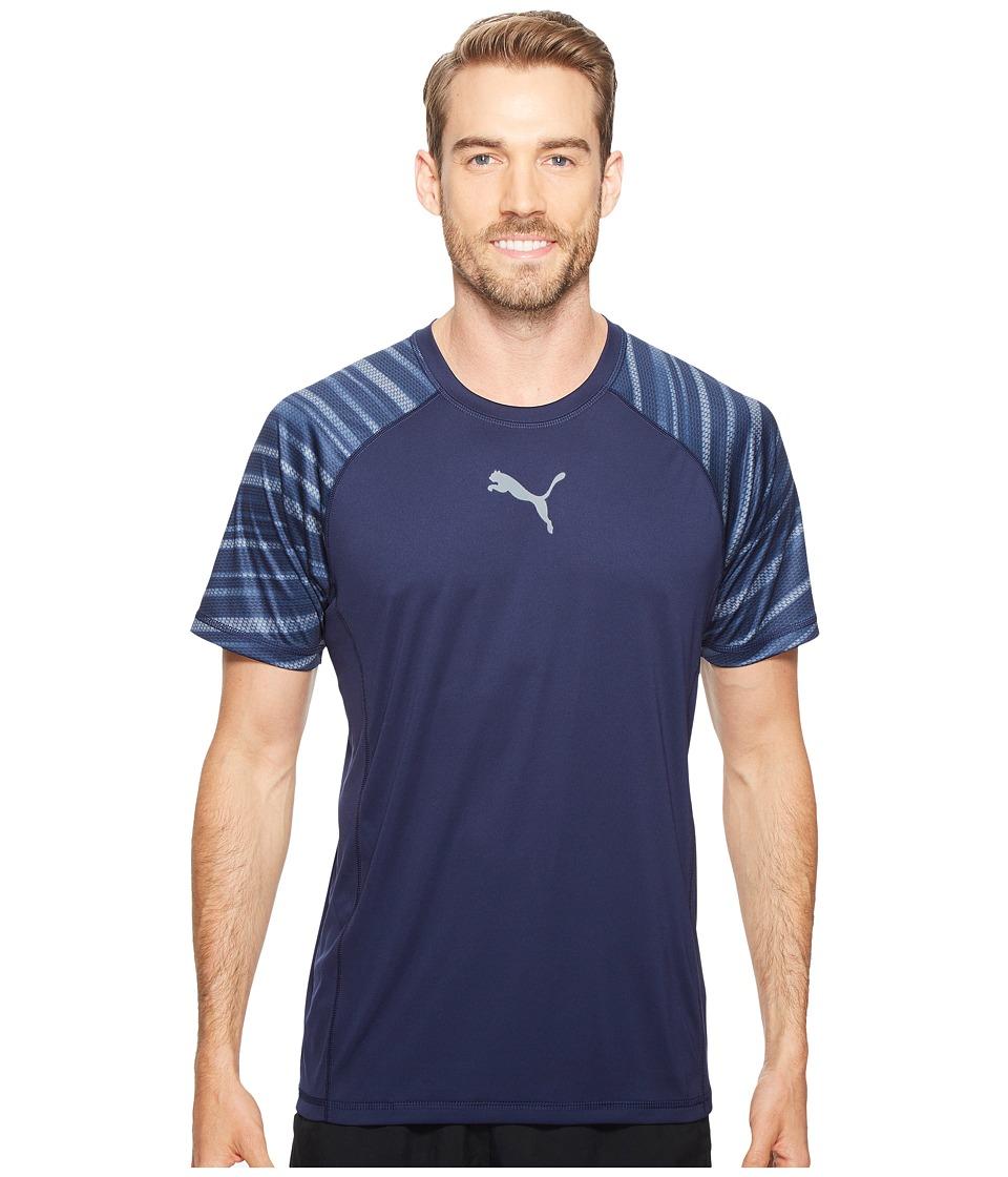 PUMA - Vent Short Sleeve Graphic Tee (Peacoat) Men's T Shirt