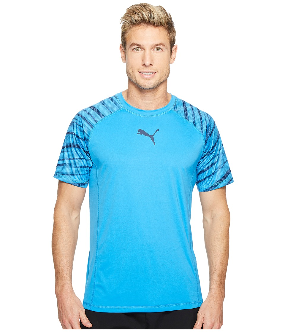 PUMA - Vent Short Sleeve Graphic Tee (French Blue) Men's T Shirt