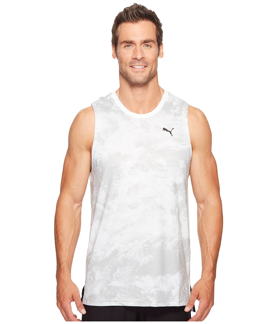 PUMA - Evo Graphic Tank Top (Puma White AOP) Men's Sleeveless