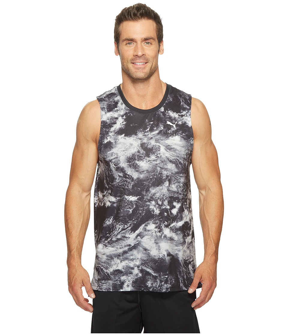 PUMA Evo Graphic Tank Top (Puma Black AOP) Men