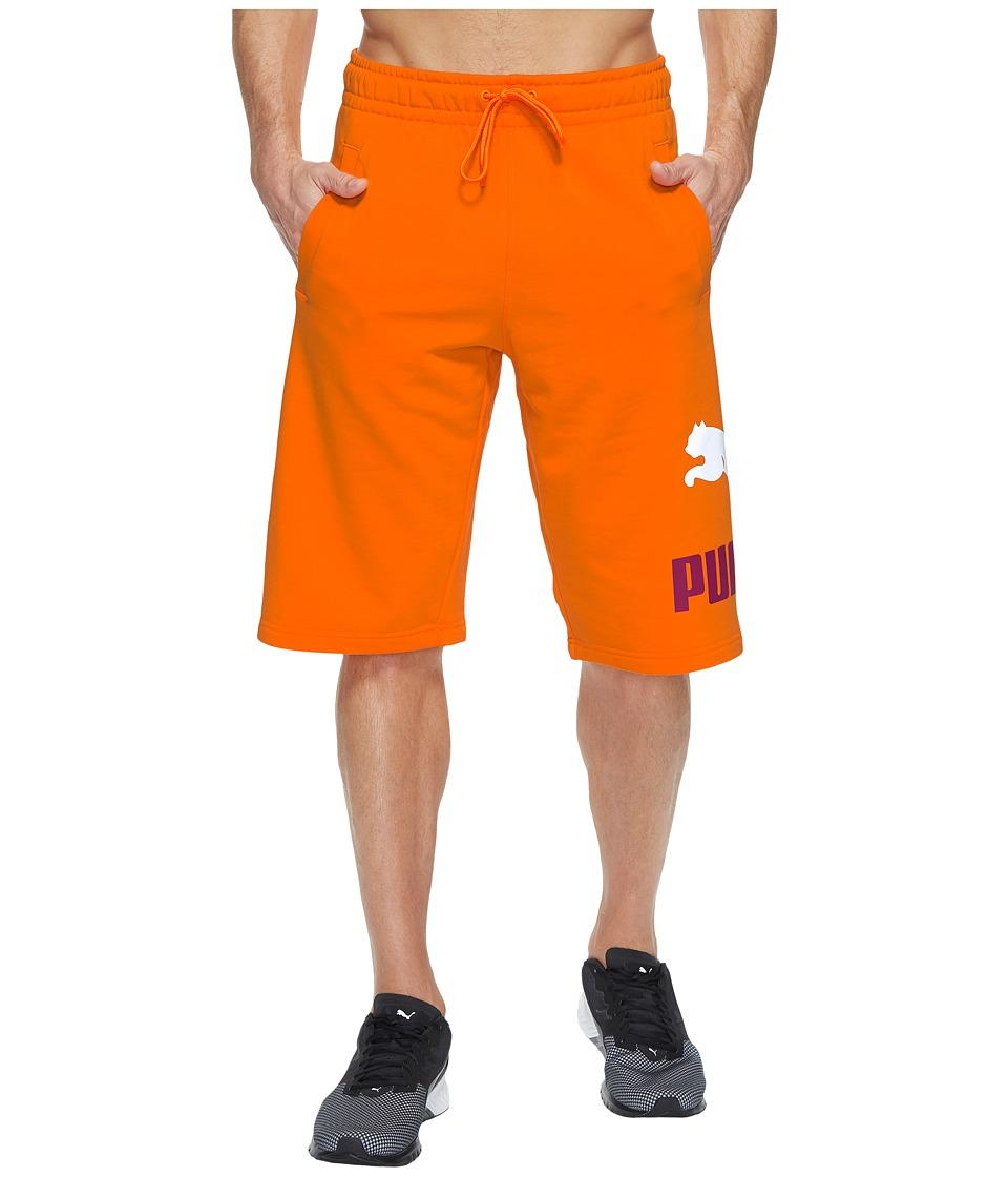 PUMA - Archive Logo Sweat Bermudas (Orange Clown Fish) Men's Shorts