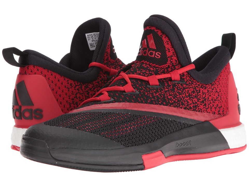 adidas - SM On Court Crazylight Boost 2 (Black/Scarlet/Black) Men's Shoes