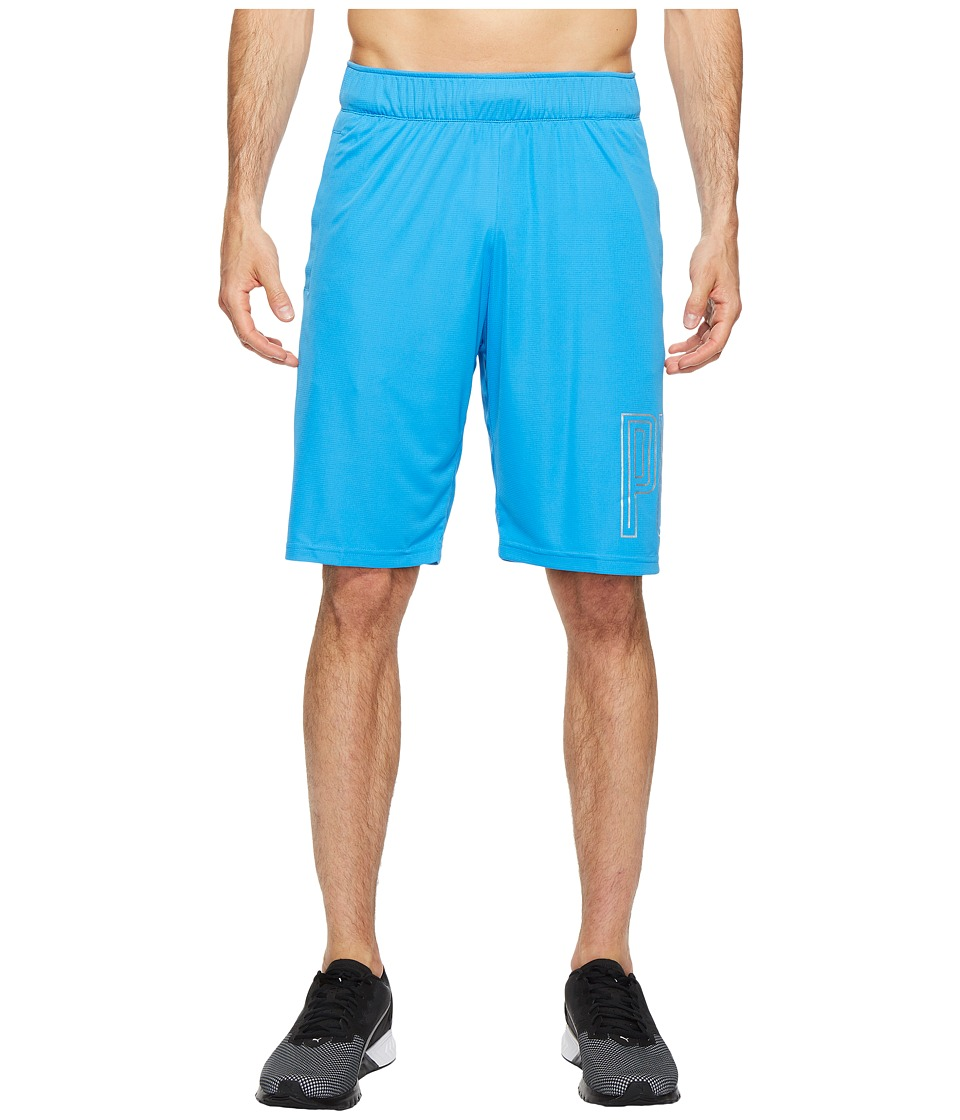PUMA - Motion Flex 10 Graphic Shorts (French Blue) Men's Shorts