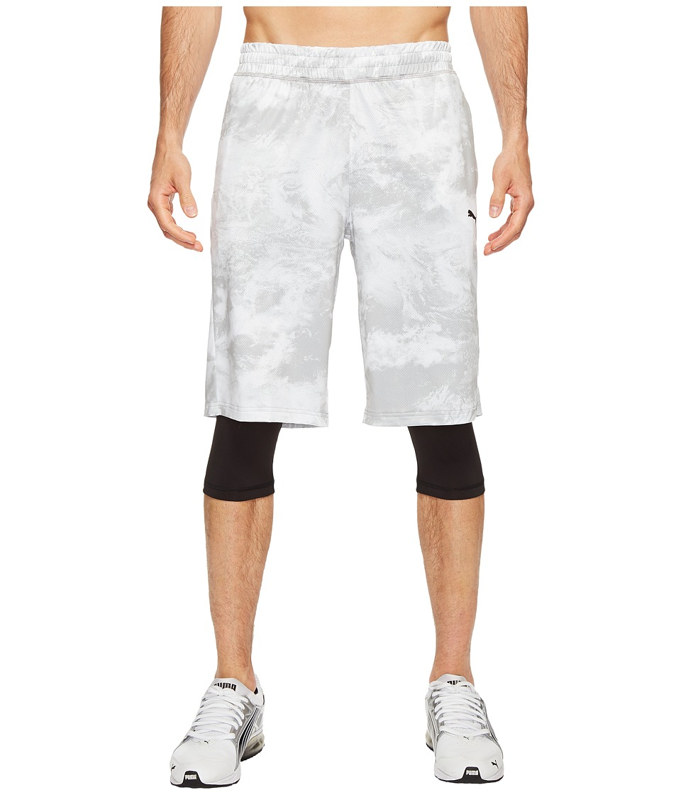PUMA - Evo Layered Tight Shorts (Puma White AOP) Men's Shorts