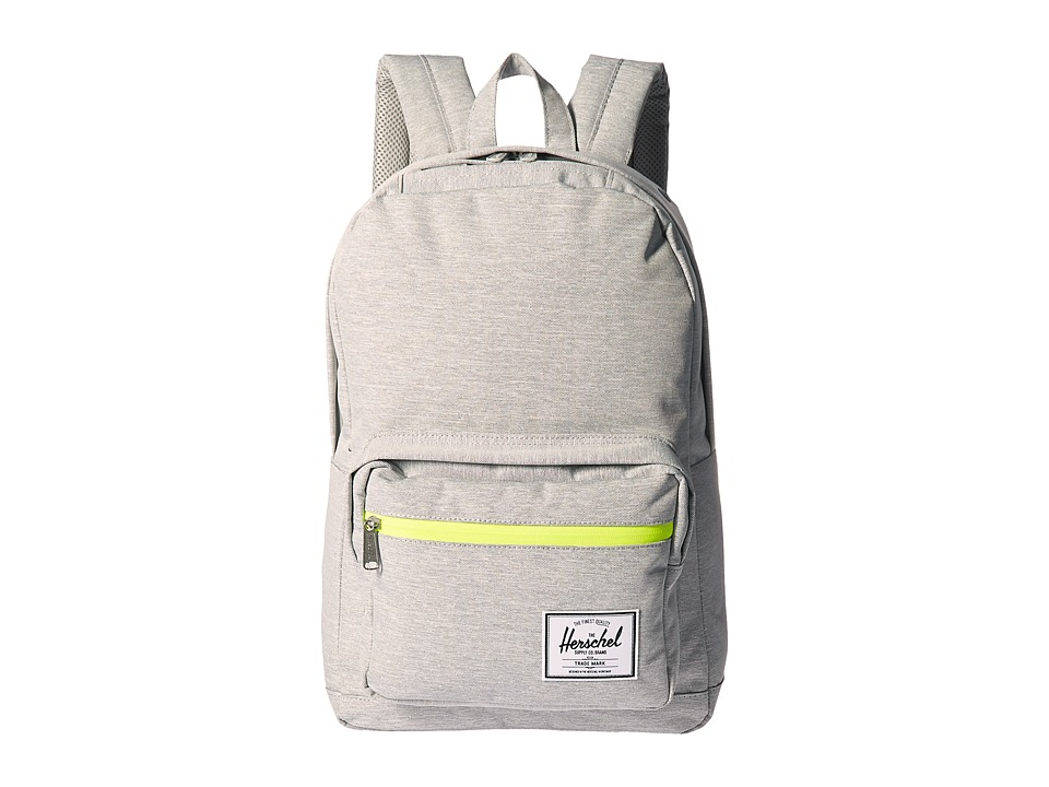 Herschel Supply Co. - Pop Quiz (Light Grey Crosshatch/Acid Lime Zip) Backpack Bags
