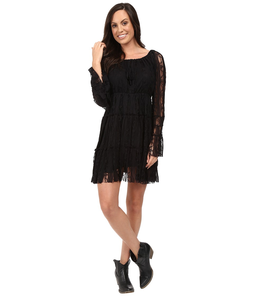Scully - Honey Creek Flirtatious Lace Dress (Black) Women's Dress