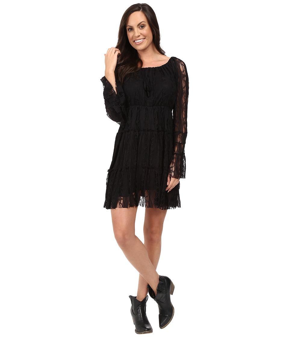 Scully Honey Creek Flirtatious Lace Dress (Black) Women