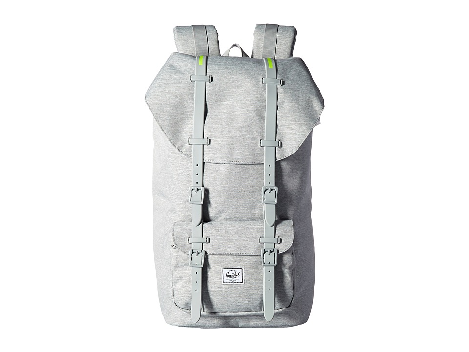 Herschel Supply Co. - Little America (Light Grey Crosshatch/Light Grey Rubber/Acid Lime Insert) Backpack Bags