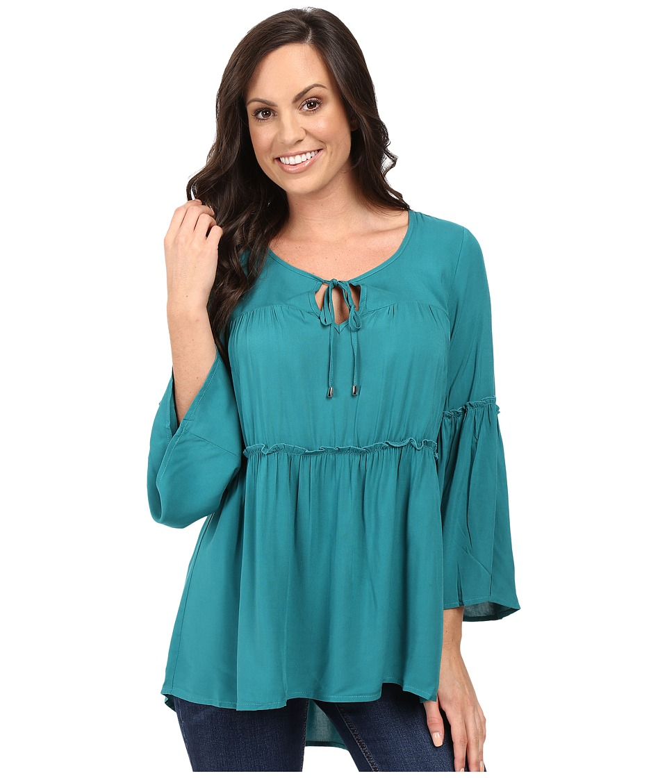 Scully - Honey Creek Veronica Top (Green) Women's Clothing