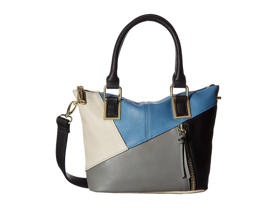 Steve Madden - BJamba Mixed Media Mini (Black/Blue) Cross Body Handbags